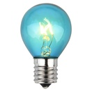 S11 Triple Dipped Transparent Teal, 10 Watt Replacement Bulbs