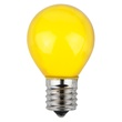 S11 Opaque Yellow, 10 Watt Replacement Bulbs