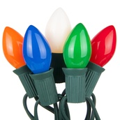 25 C7 Opaque Multicolor Christmas Lights