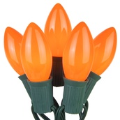 25 C9 Opaque Orange Christmas Lights