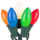 25 C9 Opaque Multicolor Christmas Lights