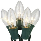 25 C9 Twinkle Clear Christmas Lights