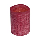 "4""H Red Apple Scented Battery Operated Flameless LED Candle in Cranberry"