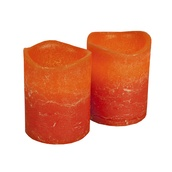 "2.5""H Pumpkin Scented Battery Operated Flameless LED Candle in Burnt Orange"