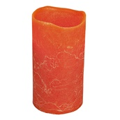 """6""""H Pumpkin Scented Battery Operated Flameless LED Candle in Burnt Orange"""