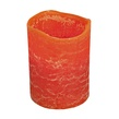 "4""H Pumpkin Scented Battery Operated Flameless LED Candle in Burnt Orange"