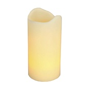 "6""H Melted Edge Battery Operated Flameless LED Candle in Ivory"