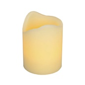 "4""H Melted Edge Battery Operated Flameless LED Candle in Ivory"