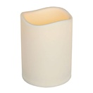 "6""H x 4""D Resin Indoor/Outdoor Battery Operated Flameless LED Candle in Bisque"