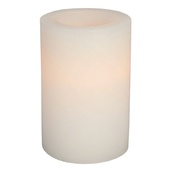 "6"" Battery Operated Flameless LED Straight Edge Candle in White"