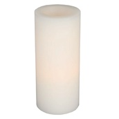 "9"" Battery Operated Flameless LED Straight Edge Candle in White"