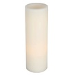 "12"" Battery Operated Flameless LED Straight Edge Candle in White"