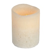 "4""H Vanilla Scented Battery Operated Flameless LED Candle in Bisque"