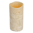 "6""H Ginger Orange Scented Battery Operated Flameless LED Candle in Sand"