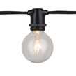 100' Commercial Grade Patio String Lights, 75 E17 - Intermediate Sockets, Black Wire