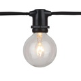 330' Commercial Grade Patio String Lights, 264 E17 - Intermediate Sockets, Black Wire