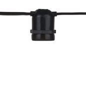 330' Commercial Grade Patio String Lights, 165 E26 - Medium Sockets, Black Wire