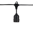 "54' E26 Commercial Patio Light Stringer, SPT2 Black Wire, 24"" Spacing"