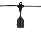 "108' E26 Commercial Patio Light Stringer, SPT2 Black Wire, 24"" Spacing"