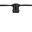 "100' C9 Commercial Patio Light Stringer, SPT2 Black Wire, 15"" Spacing"