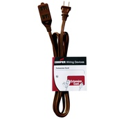 6' Household Brown Extension Cord