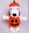 Light Up Snoopy in Pumpkin Costume Yard Art