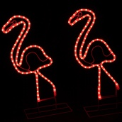 2' Lighted Pink Flamingo