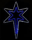 "32"" Bethlehem Star With A Blue Center"