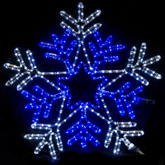 Snowflake With A Blue Center