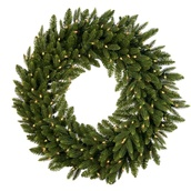 Carolina Fir Prelit Christmas Wreath, Clear Lights