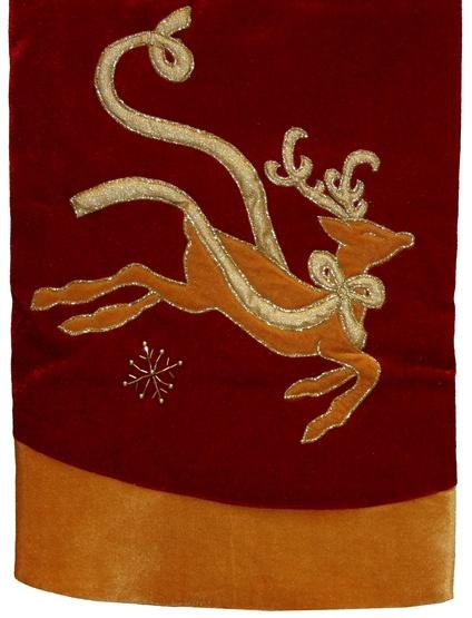"""48"""" Velvet Reindeer Tree Skirt"""
