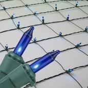 4' x 6' Net Lights - 150 Blue Lamps - Green Wire