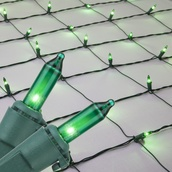 150 Green Mini Net Lights on Green Wire, 4' x 6'