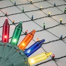 4' x 6' Net Lights - 150 Multicolor Lamps - Green Wire