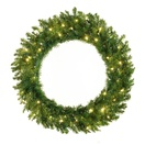Norway Spruce Prelit LED Holiday Christmas Wreath, Warm White Lights