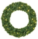 Balsam Fir Prelit LED Holiday Christmas Wreath, Warm White Lights