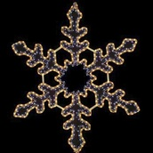 "38"" Snowflake - Blue and Clear"