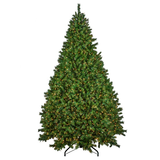 4.5' Full Pre-Lit Brighton Fir Tree, 300 Clear Lamps