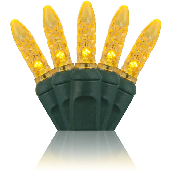 """70 M5 Gold LED Christmas Lights, 4"""" Spacing"""