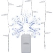 70 Cool White Snowflake LED Icicle Lights