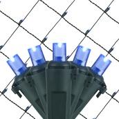 5MM 4'x6' Blue LED Net Lights, Green Wire