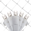 5MM 4'x6' Pure White LED Net Lights, White Wire