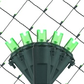 5MM 4'x6' Green LED Net Lights, Green Wire