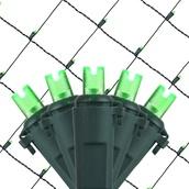 5MM 4'x6' Green LED Net Lights, Green Wire