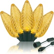"""Commercial 25 Gold C9 LED Christmas Lights, 12"""" Spacing"""