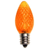 C7 Amber / Orange LED Christmas Replacement Bulbs