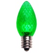 C7 Green LED Christmas Light Bulbs