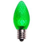 C7 Green LED Christmas Replacement Bulbs