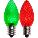 C7 Color Change Red LED Christmas Light Bulbs