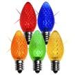 C7 Twinkle Multicolor LED Christmas Light Bulbs